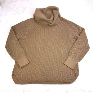 Michael Kors Tan Cowl Neck Sweater XL